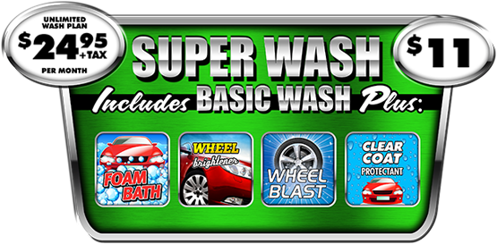 The Super Car Wash Package