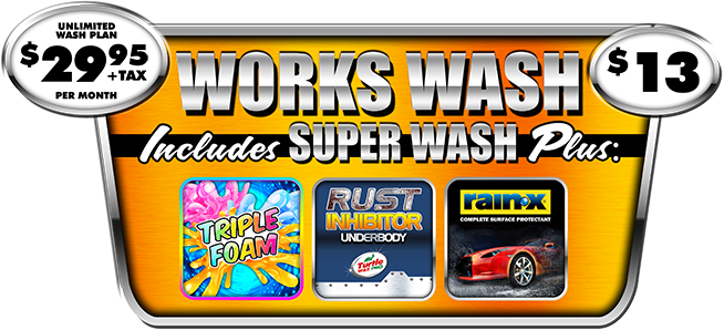 The Works Car Wash Package